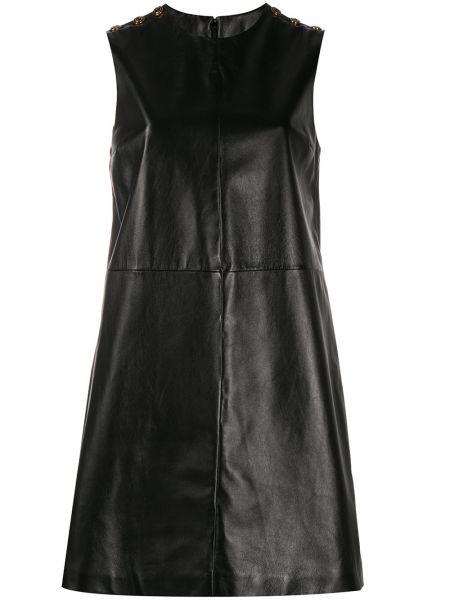 Czarny sukienka bez rękawów z wiskozy okrągły Gucci