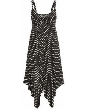 Летнее платье со складками черное Bonprix