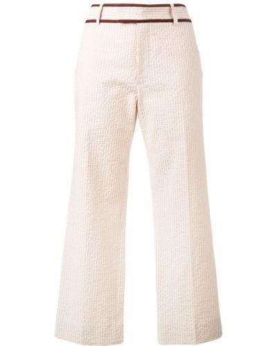 Розовые укороченные брюки с поясом Jour/né