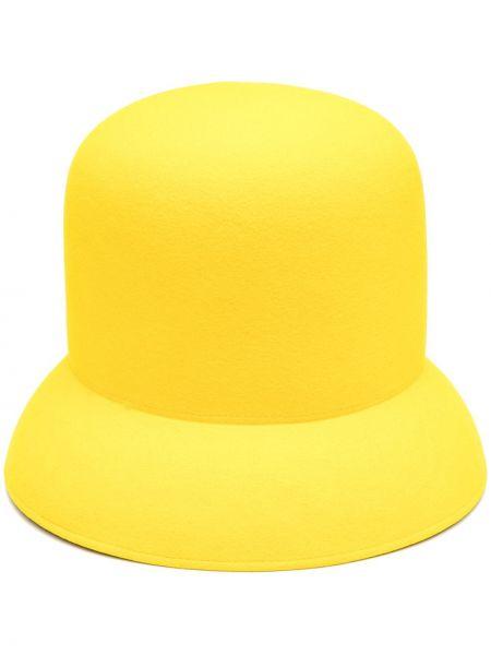 Wełniany żółty kapelusz Nina Ricci