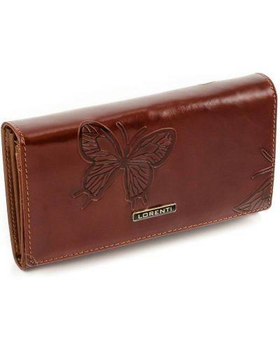 Brązowy portfel skórzany Lorenti