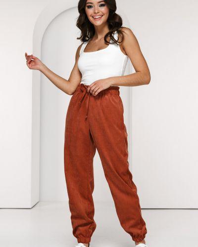 Повседневные спортивные брюки вельветовые на резинке Lady Taiga