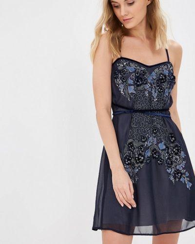 Вечернее платье - синее Ricamare