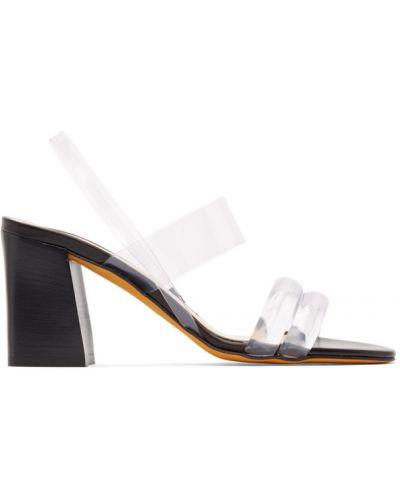 Czarne sandały na obcasie skorzane Maryam Nassir Zadeh