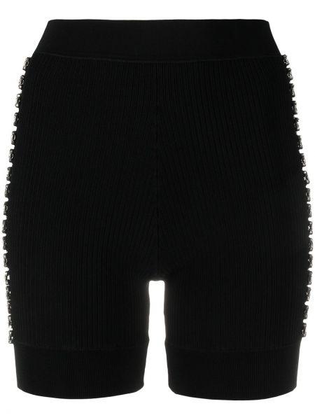 Трикотажные черные с завышенной талией шорты Area