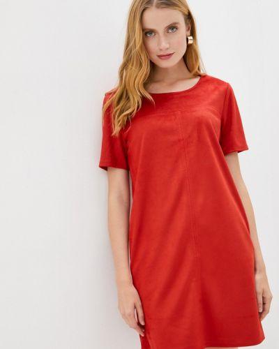 Оранжевое кожаное платье S.oliver