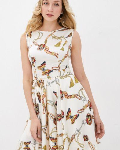 Прямое бежевое платье А-силуэта Lusio