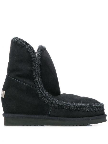 Buty mieszkanie czarne Mou