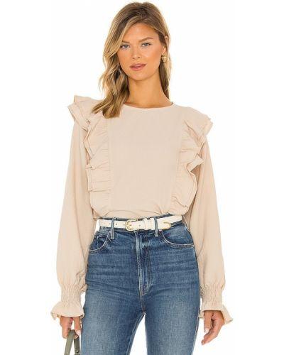 Бежевая блузка винтажная Line & Dot