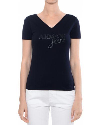 Синяя футболка хлопковая Armani Jeans