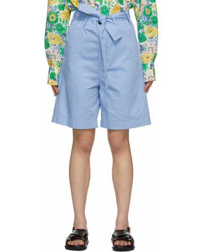 Синие хлопковые шорты Plan C