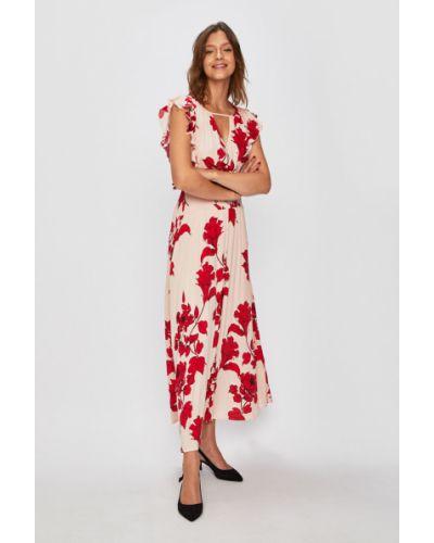 Платье макси из вискозы с декольте Morgan