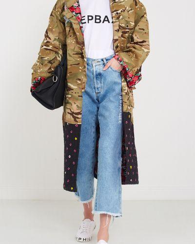 Широкие джинсы рваные укороченные Natasha Zinko