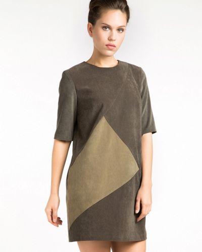 Платье осеннее зеленый Yulia'sway