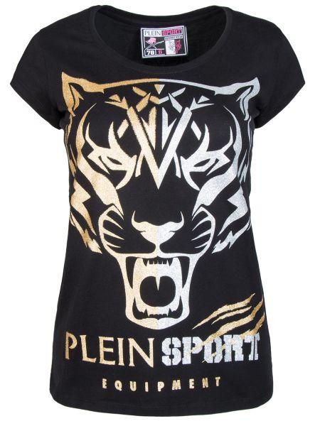 Спортивная футболка черная с тигром Plein Sport