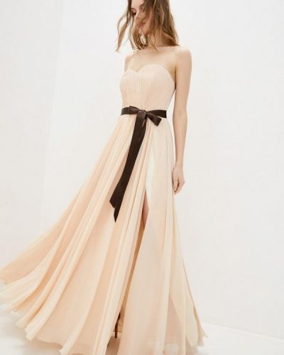 Бежевое вечернее платье Miodress