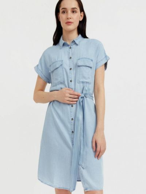 Джинсовое расклешенное платье Finn Flare