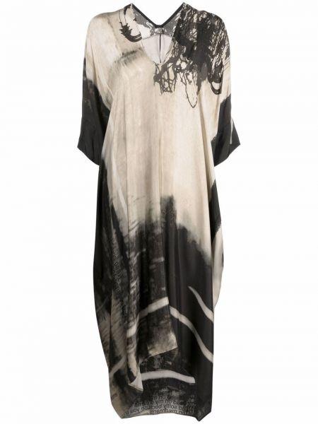 Платье трапеция с вырезом из вискозы Masnada