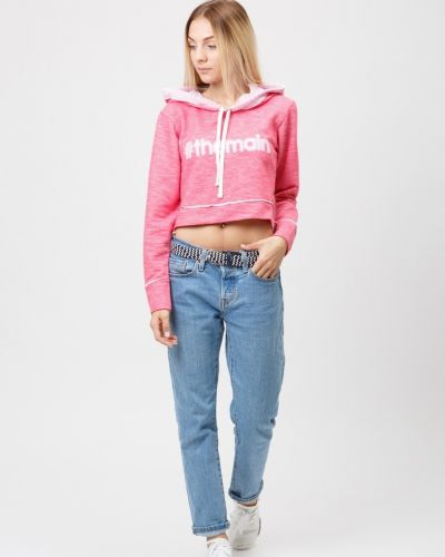 Розовая кофта с длинными рукавами Street Style