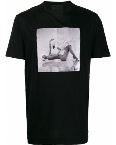Футбольная черная футболка в рубчик Limitato