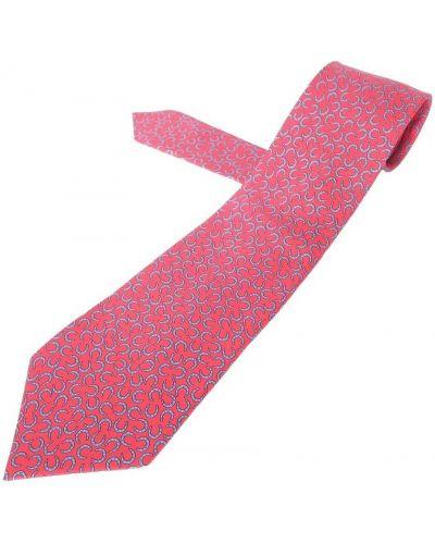 Krawat z jedwabiu - czerwony Hermès Vintage