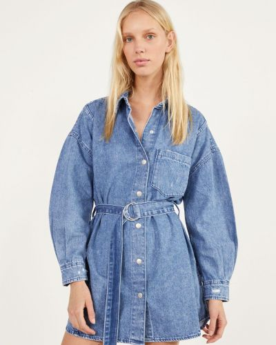 Джинсовая куртка - синяя Bershka