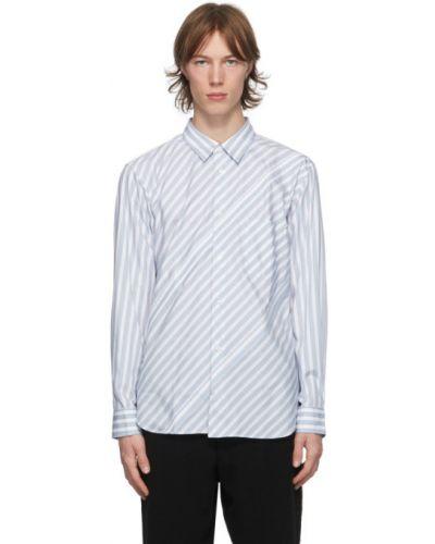 Niebieska koszula bawełniana w paski Comme Des Garcons Homme Deux