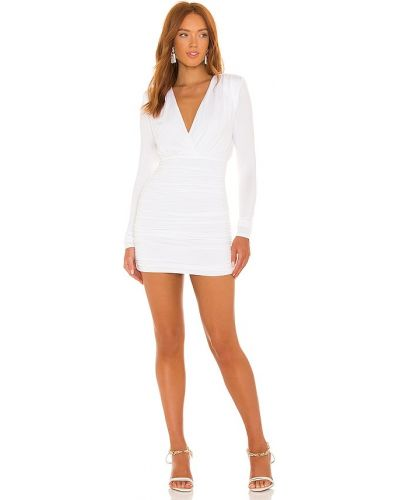 Белое платье с подкладкой Michael Costello