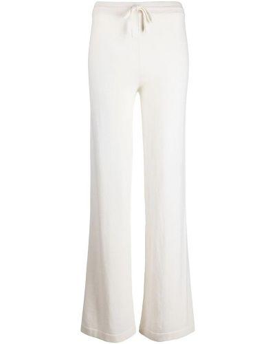 Białe spodnie Salvatore Ferragamo