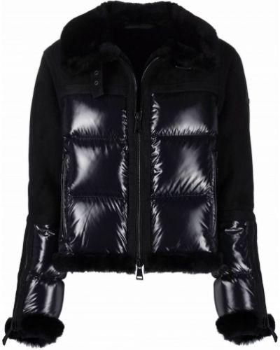 Черная куртка длинная Moncler