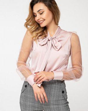 Блузка розовая с бантом Itelle