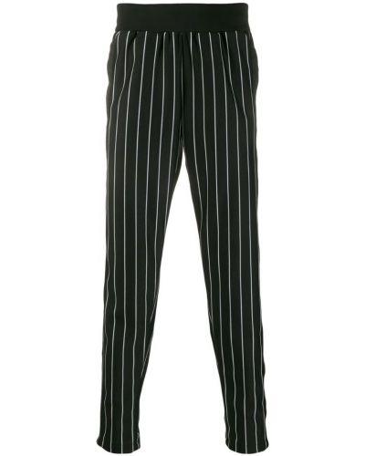 Прямые брюки черные в полоску Daniel Patrick