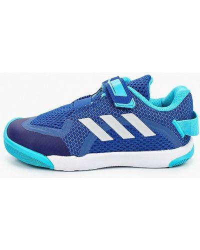 Текстильные синие кроссовки Adidas