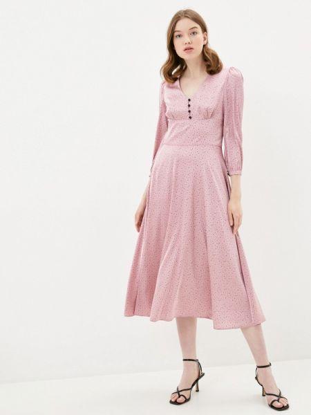 Розовое вечернее платье Solou