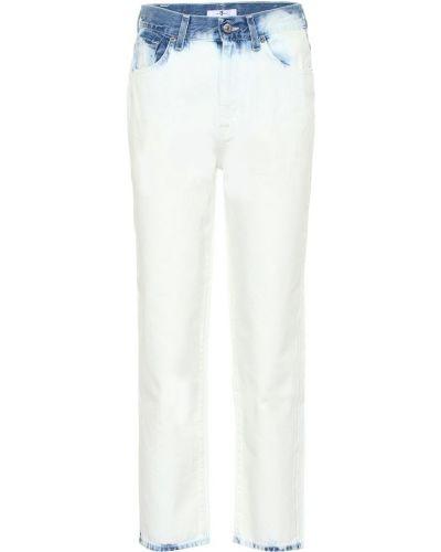 Укороченные джинсы mom белые 7 For All Mankind