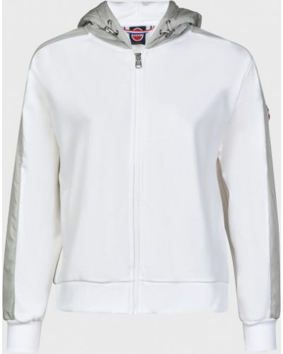 Хлопковая белая кофта на молнии Colmar Originals