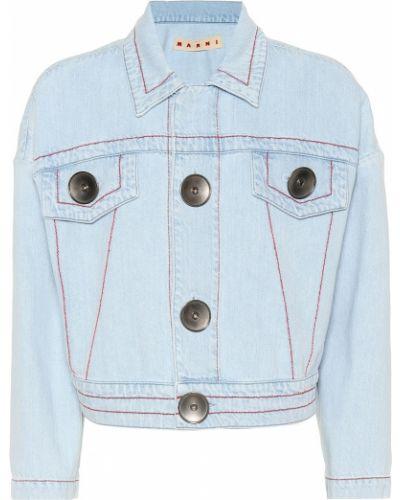 Джинсовая куртка укороченная синий Marni