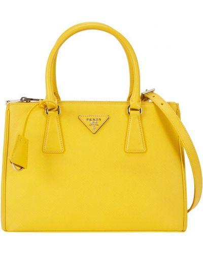 Кожаный сумка шелковая Prada