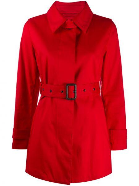 Красный хлопковый тренчкот с воротником Mackintosh
