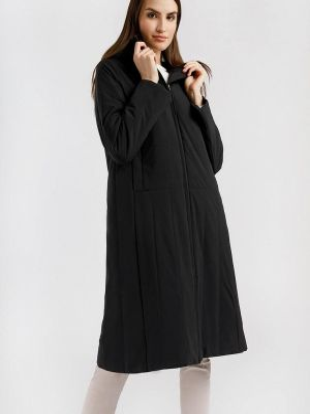 Утепленная куртка демисезонная черная Finn Flare