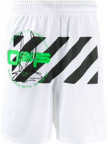 Короткие шорты на резинке с карманами Off-white