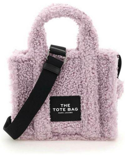 Torba na ramię materiałowa - fioletowa Marc Jacobs