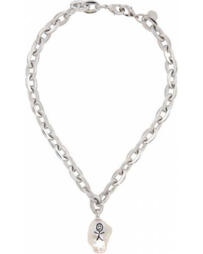 Серебряное ожерелье с жемчугом Jiwinaia