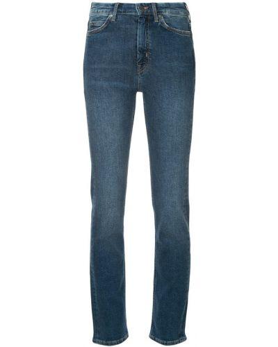 Джинсы с поясом на пуговицах Mih Jeans
