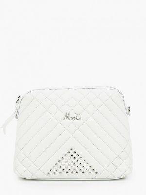 Белая сумка через плечо из натуральной кожи Marina Creazioni