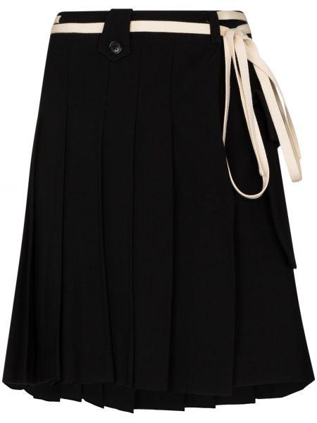 Czarna spódnica mini wełniana Plan C