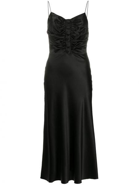 Приталенное тонкое платье на бретелях с V-образным вырезом Matériel