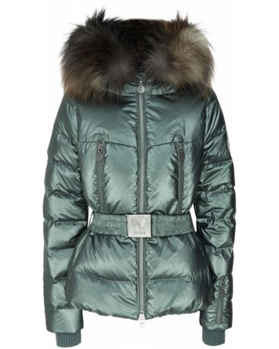 Куртка с мехом - зеленая Naumi