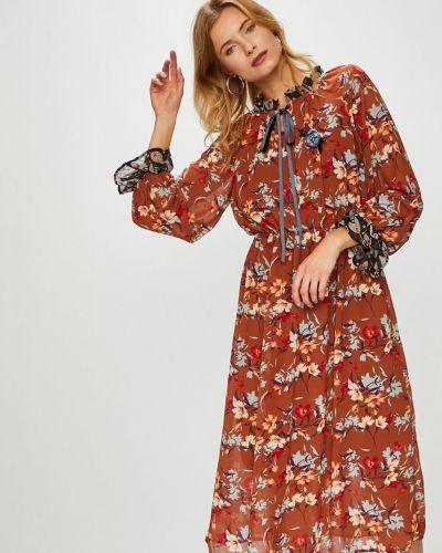 Платье мини с поясом с оборками Answear