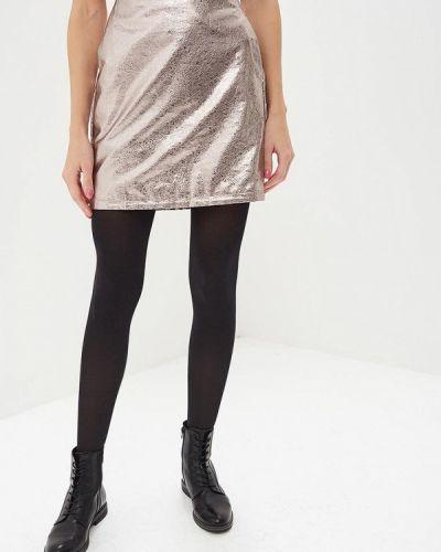 Кожаная юбка серебряный Blendshe